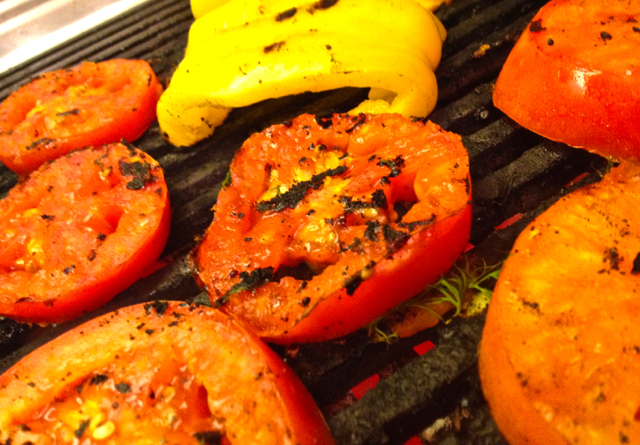 For a twist, try Grilling your Tomatoes and Peppers before added them to your Sandwich, Salad or favorite Recipe.